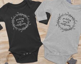 Tom Petty shirt, Wildflowers Onesie, Tom Petty onesie, longsleeve baby onesie, baby bodysuit, baby shower gift, new baby gift, floral onesie