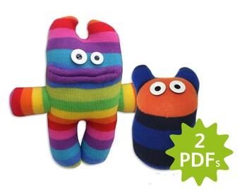 Sock Monster AND Mini Monster making instructions