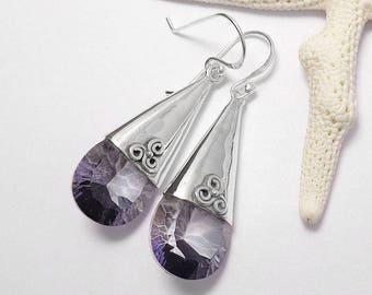 Mystic Blue Topaz 925 Sterling Silver Earrings