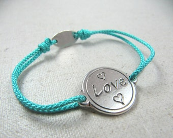 """""""Love"""" adjustable strap 18 mm - color and choice of string"""