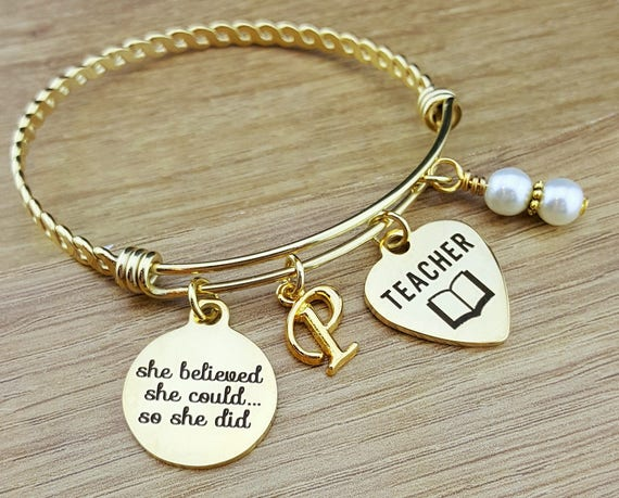 Gold Bangle Teacher Gifts Teacher Graduation Gift College Graduation Gift for Her Graduation Gift for Daughter Senior 2018 Senior Gifts