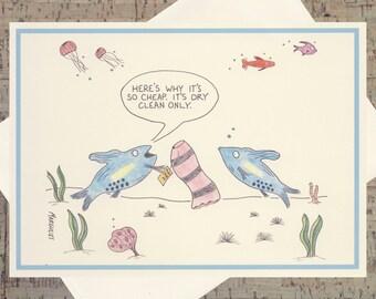 Funny Friendship Card, Funny Girlfriend Card, Funny Card, Humor Card, Funny Card For Her, Fashionista Card, Quirky Card, Ocean Card