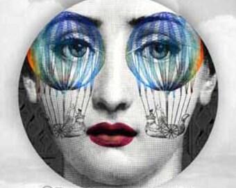 Psychedelic Lina Cavalieri plate
