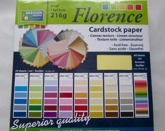 HAPPY Florence 216 g paper, 15 x 15cm, 60 leaves in 30 colors