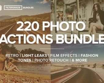 FilterGrade 220 Photoshop Actions Bundle