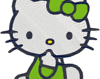 20 6x6 Hello Kitty 3 Machine Embroidery Designs in zip file downloadable.