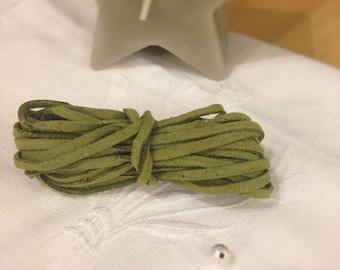 Absinthe green suede cord