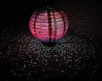 Twilight Galaxy Lantern, Space themed, Universe Inspired, Multi-color Galaxy Light Paper Lanterns, home decor, nursery, dorm, wedding,