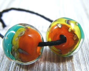 Handmade Lampwork Beads - Earring Pairs ~Farren  ~Southwest-Boho-Earring Pairs