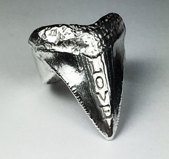 Sterling Silver LOVE Tooth Ring-Ready to ship.
