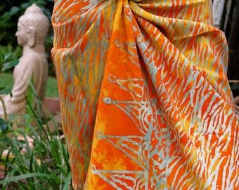 Orange Beach Sarong, Pareo, Wrap