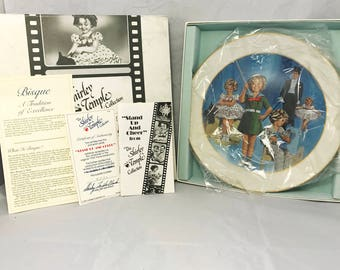 """10x10 Vintage All Bisque """"Stand Up And Cheer"""" Collectors Plate Shirley Temple - All Original"""