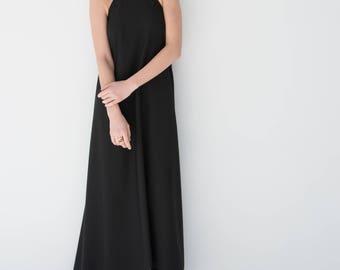 Halter Dress / Maxi Summer Dress / Party Dress / Long Dress / Unique Dress / Casual Dress /Floor-Length / Marcellamoda - MD0838