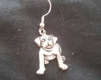 Men's Bull Dog Earring, French Bull Dog Earring, Bull Dog Jewelry, Men's Jewelry