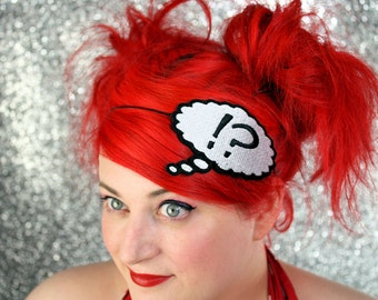 Thought Bubble Headband, Say What, Question Exclamation Headband