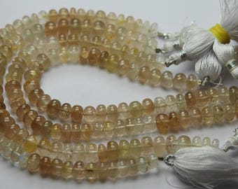 8 Inches Strand,Natural IMPERIAL Topaz Smooth Rondelles Shape Beads,7-8mm