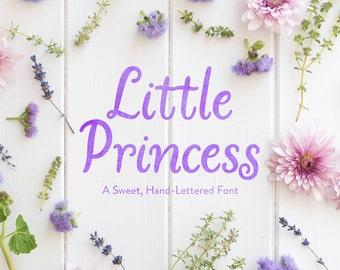 LB_Little Princess Font Download / Hand-lettered font / Feminine font