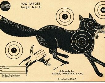 Vintage Shooting Target/Fox