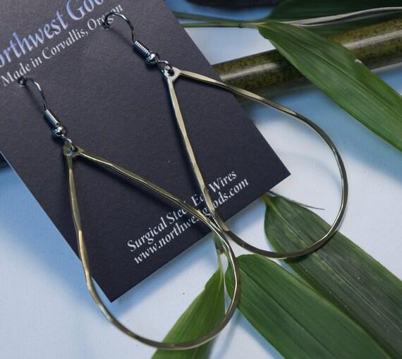 Bronze teardrop earrings