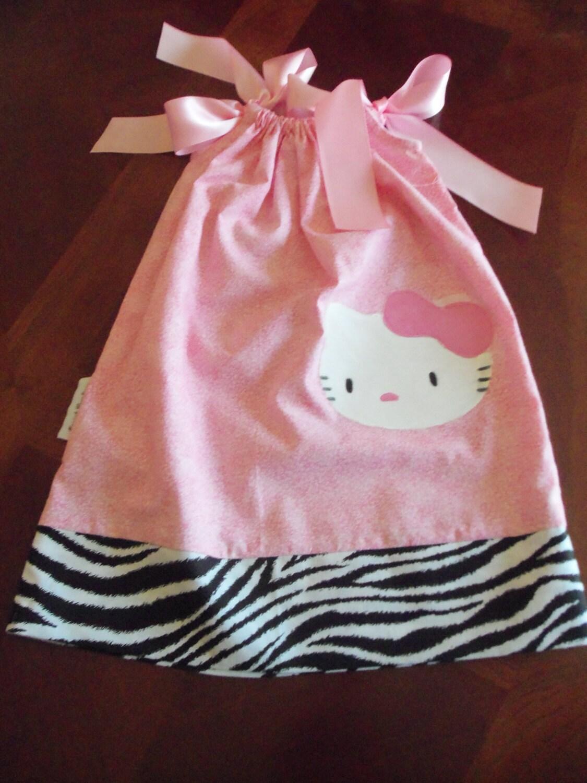 Vestido de funda de almohada de bebé niña rosa Vestido de la