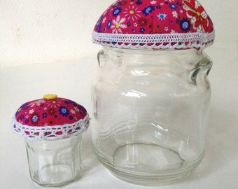 Pink Cupcake Jars Set of 2
