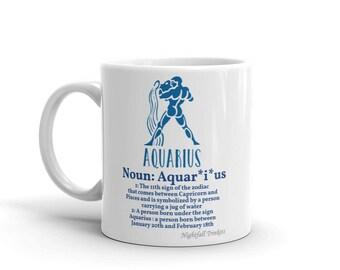 Aquarius Star Sign Mug