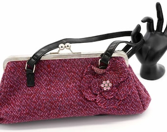 Pink and Purple clutch with flower detail