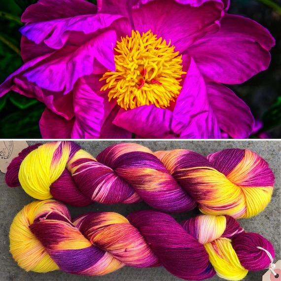 That's Enough Crazy Ornamental Flowers, merino nylon sock yarn