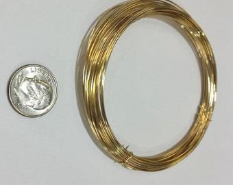 Gold Filled Wire, 22 Gauge, 12KGF, Half Hard or Soft, Round, 3 Feet, 5 Feet, 10 Feet