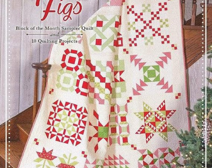 Featured listing image: Christmas Figs - Fig Tree and Co. - Block of the Moth Sampler Quilt
