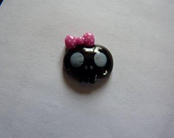 Pretty little black child skull head