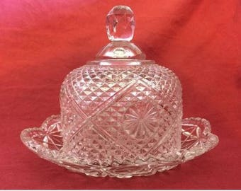 Collectable Avon Butter Dish w/ Lid ~ 1969