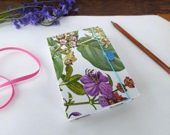 Nature themed junk journal - floral journal, nature ephemera, floral journal, art journal, hard cover junk journal with, a6 junk journal