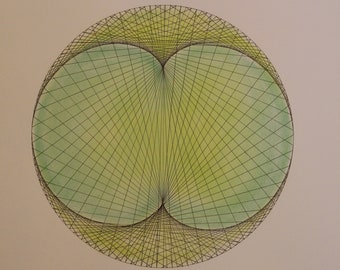 3 Times - Mathematical Art hand drawn in ink