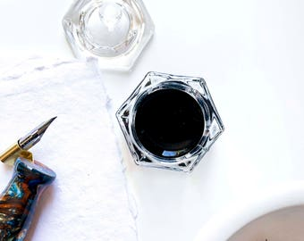 Calligraphy | Ink Well | Dinky Dip | Glass Ink Container | Calligraphy Pen | Pointed Pen Supplies | Nib | Ink | Pen | Dip Pen Supplies