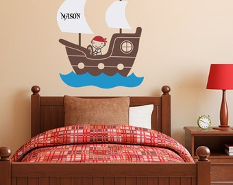 More Colors. Pirate Ship Wall Decal With ...