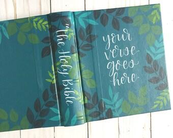Hand Painted Journaling Bible Semi Custom Christian Gift