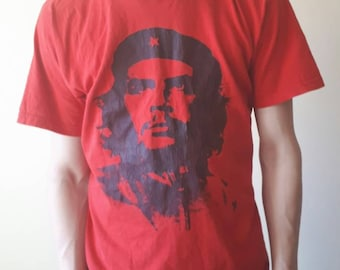 Red vintage t-shirt, mans clothing, red t-shirt, vintage clothing, red mans t-shirt, vintage mans clothing, summer wear