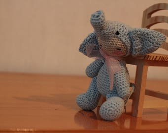 Amigurumi baby elephant ,Crochet doll,handmade amigurumi doll,rag doll/ nursery decor/ baby toys