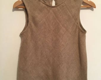 Vintage Cropped Linen top XS/S