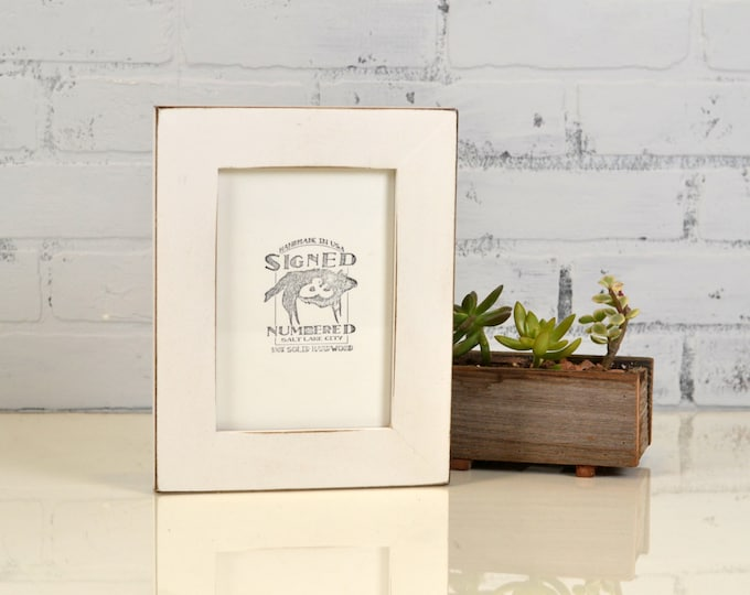 """5x7"""" Picture Frame in 1.5 Standard Style with Vintage White Finish - IN STOCK - Same Day Shipping - 5 x 7 Photo Frame"""