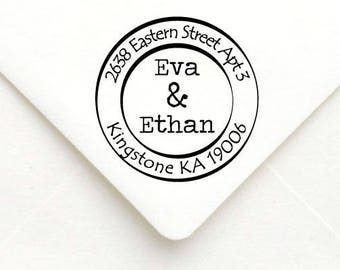Personalized Self Inking Return Address Stamp - self inking address stamp - Custom Rubber Stamp A16