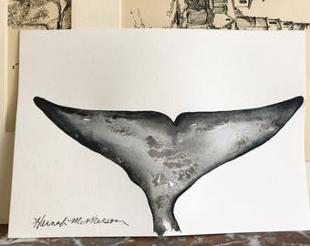 """Grey Whale Original Painting 