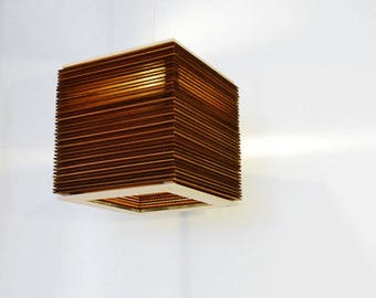 geometric large lamp id cardboard temp