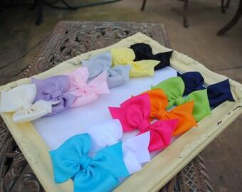 Girls Hair Bows 12 Toddler Hairbows Pony O Birthday Gift Set Buy 10 Get 2 FREE Pick Colors Half Pinwheel Ribbon Bow Gift for Birthday Girl
