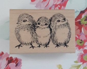 Blue Bird Huddle Wood Mounted Rubber Stamp Scrapbooking & Paper Craft Supplies