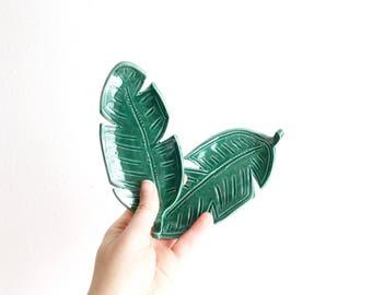 Banana Leaf Ring Dish - Plant Ring Dish - Jewelry Dish - Ring Holder - Plant Lady