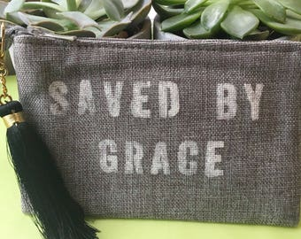 SAVED BY GRACE - clutch and tassel
