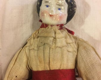Antique wee China doll all original