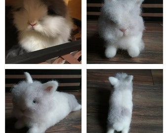 MADE TO ORDER Your bunny portrait. Needle felted bunny from your picture